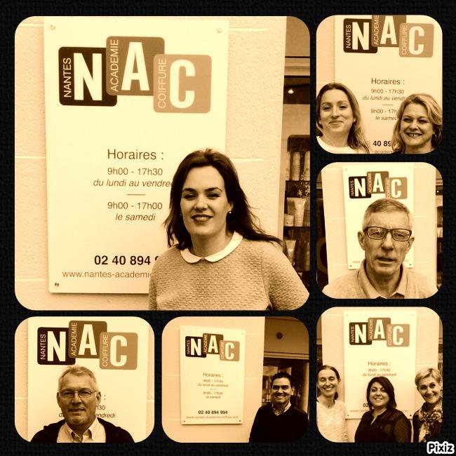 équipe pédagogique Nantes académie coiffure