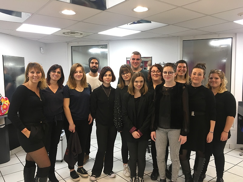 "Photo groupe stage barber ""Messieurs"" Nantes Académie Coiffure"