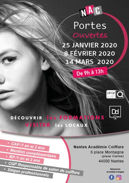 Portes Ouvertes 2020 Nantes Académie Coiffure