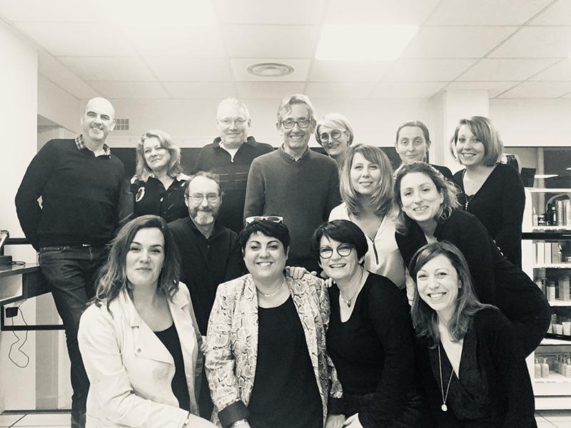 L'équipe pédagogique de Nantes Académie Coiffure